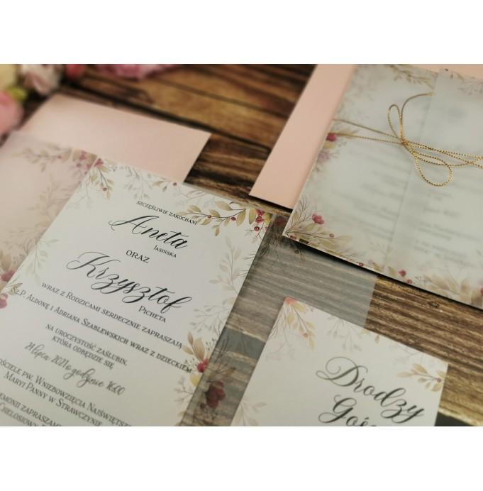 Zaproszenia Ślubne z Kalka Kwiatowe...